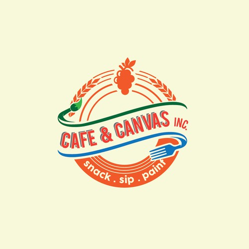 a vintage style logo for a cafe