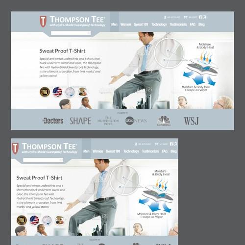 Create slider banner for Thompsontee.com