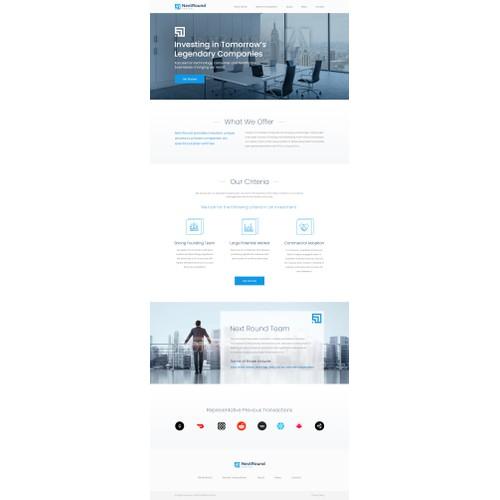Web design of 'Next round capital'.