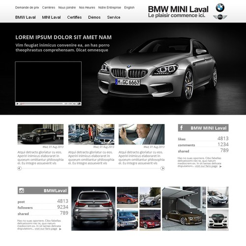 Create the next landing page for BMW Laval