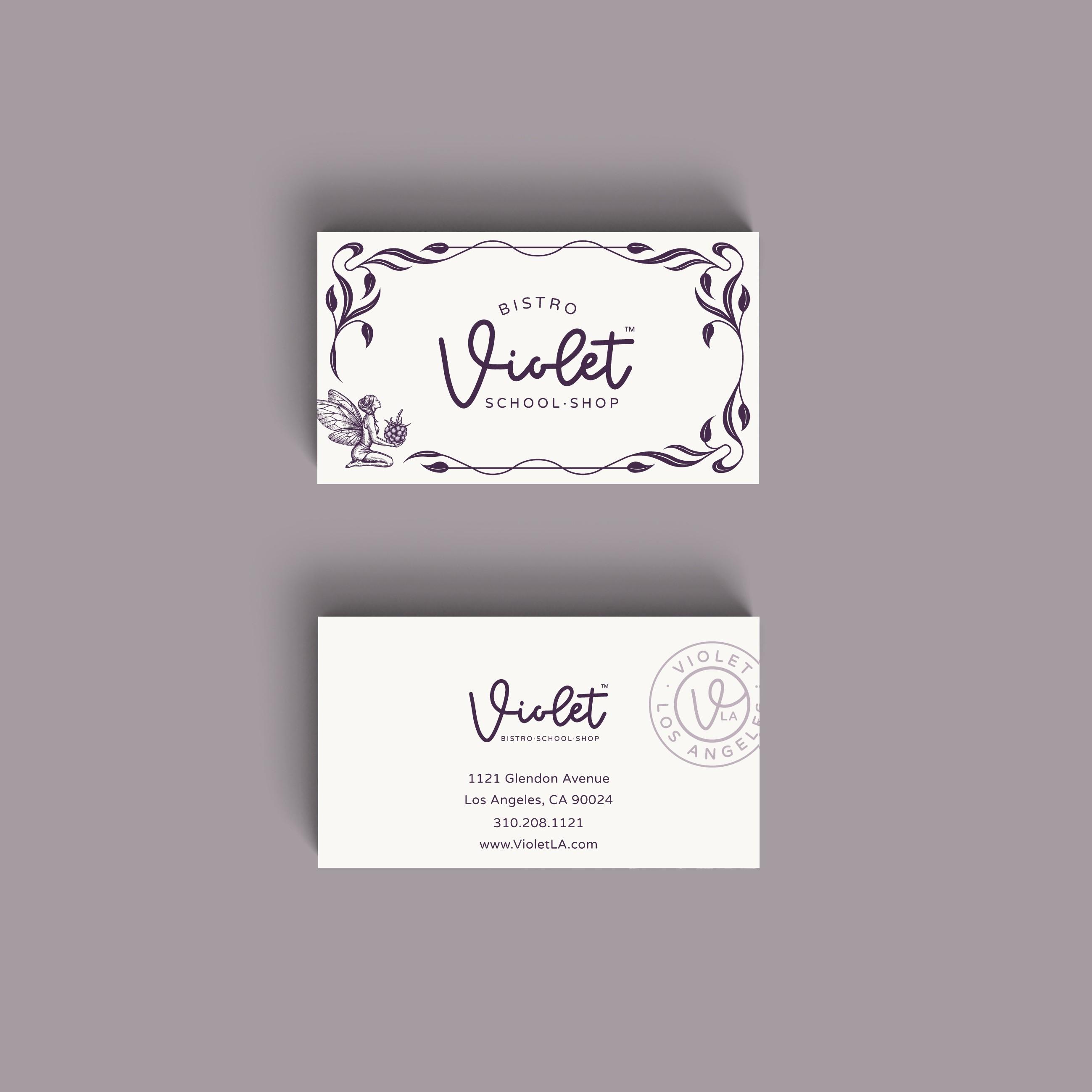 Violet - business card design