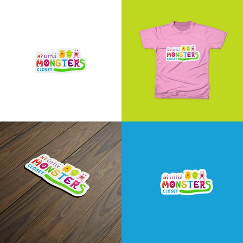Logo concept for baby and kids clothing