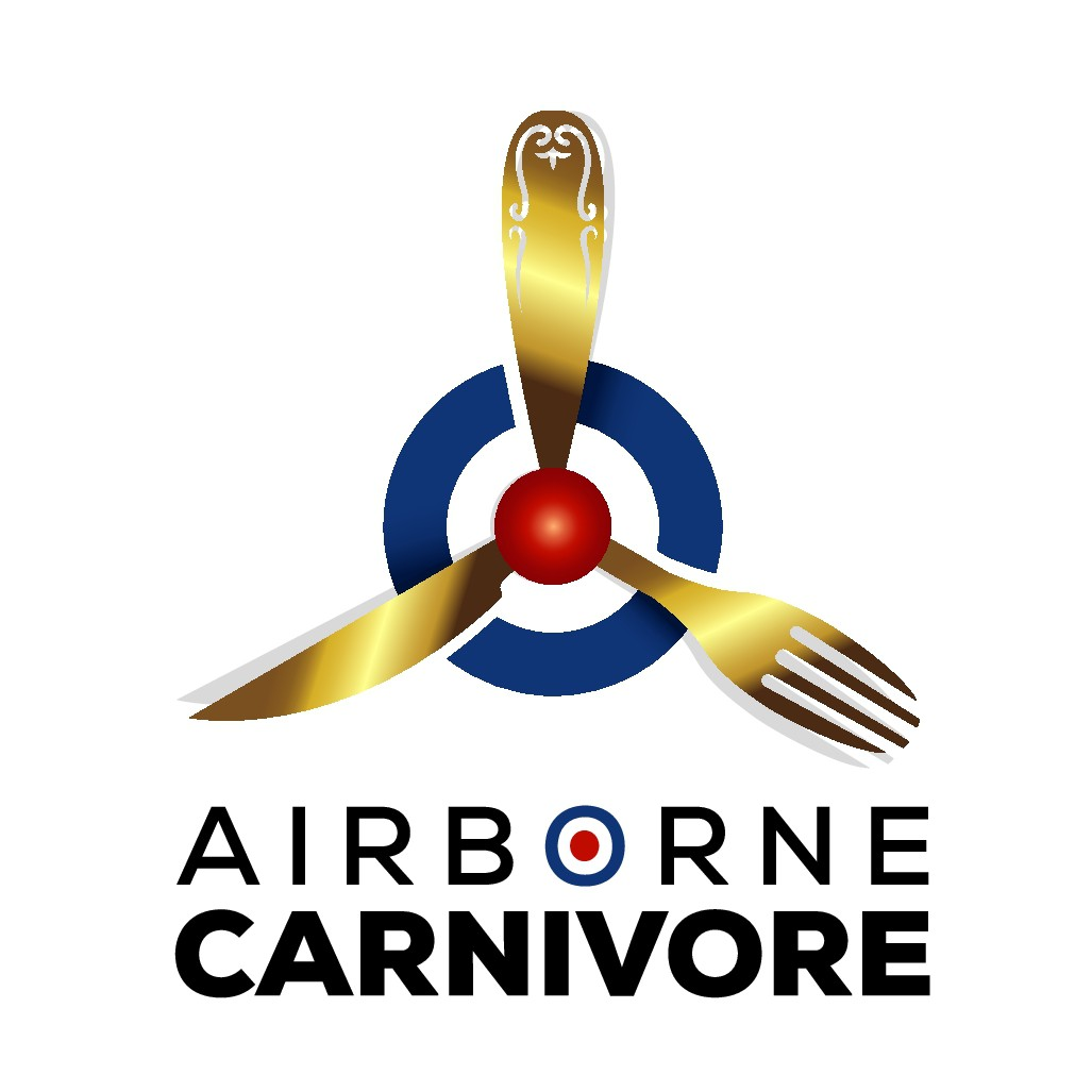 Reality show following 3 Aviators/Pilots, who love to eat steak, needs an edgy/sophisticated logo