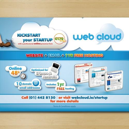 Web Cloud Flyer Design