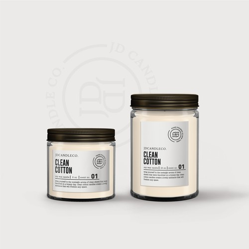 candle label design for JD CANDLE CO.