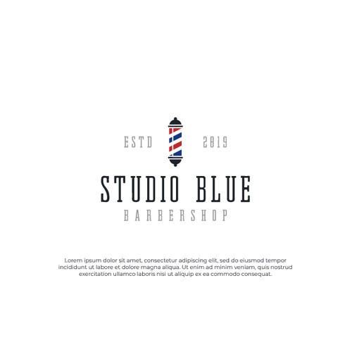 Logo design for 'Studio Blue' Barbershop