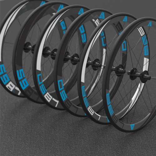 New rim graphics for a carbon bicycle rim company