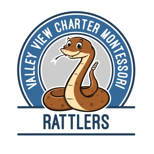 Rattler mascot for Valley View Montessori