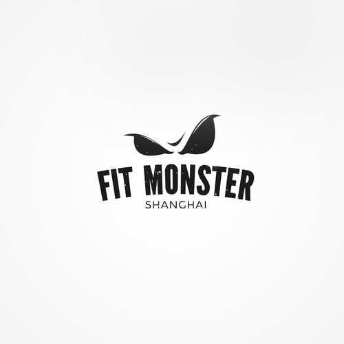 Bold logo for a fitness center