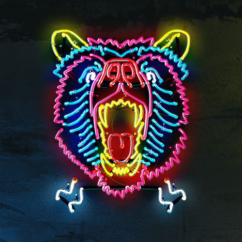 Angry Bear - Neon Sign