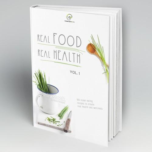 A Modern, Fresh Recipe Book Cover