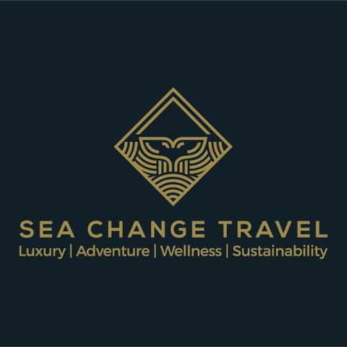 Sea change luxury travel agency logo