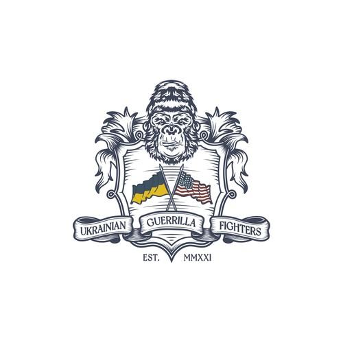 Ukrainian Guerrilla Fighters - Coat of Armor Logo Design