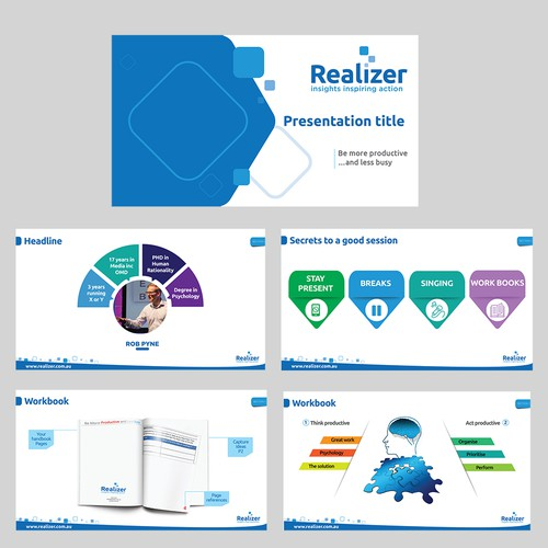 Powerpoint template for a training course