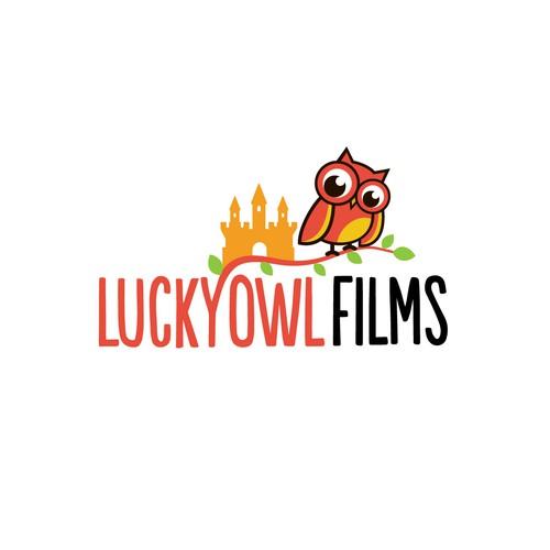 bold logo for lucky owl films