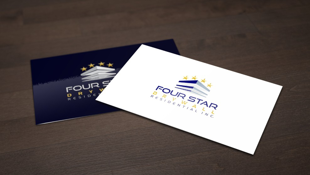 Redesign Four Star Drywall Residential's Logo