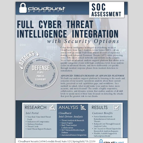 Cloudburst Security Sales Flyer
