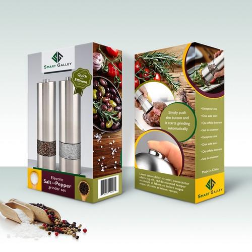 Packaging for a salt and pepper grinder Set