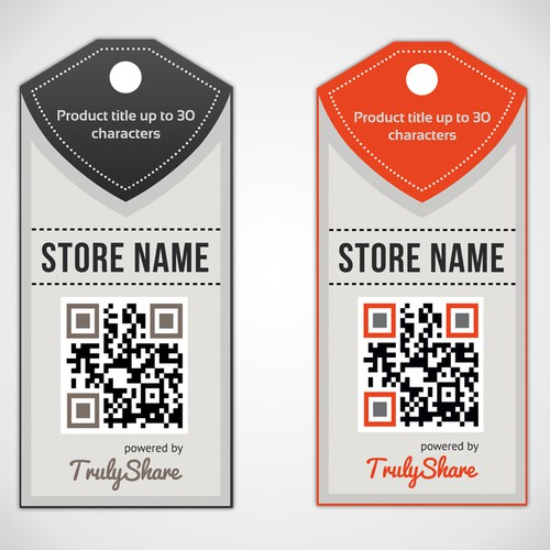 Design eye-catching retail tag