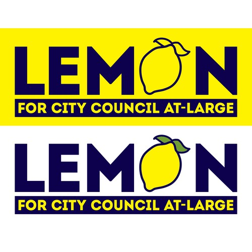 Winning Design for Lemon for City Council At-Large