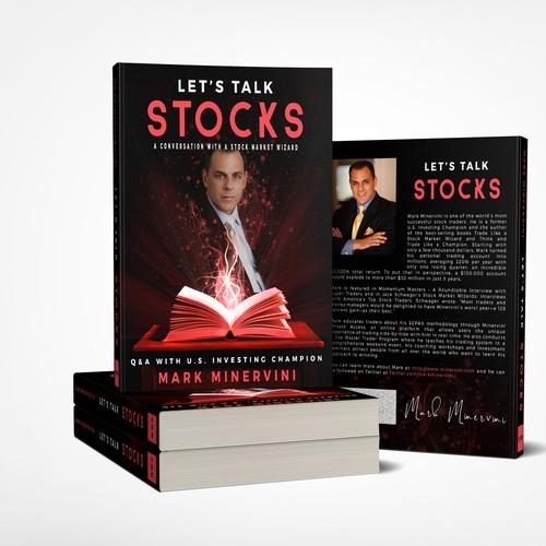 Unique book cover for Let's Talk Stocks