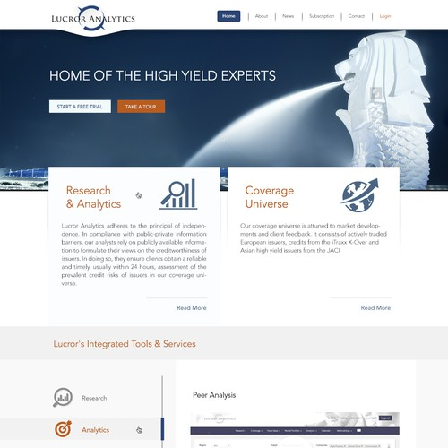state-of-the-art redesign of financial services website
