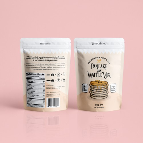 Pancake Mix Packaging Design
