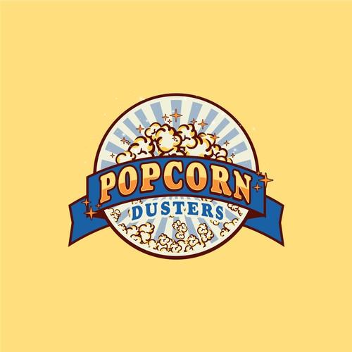 Classic Retro Logo for Popcorn Dusters