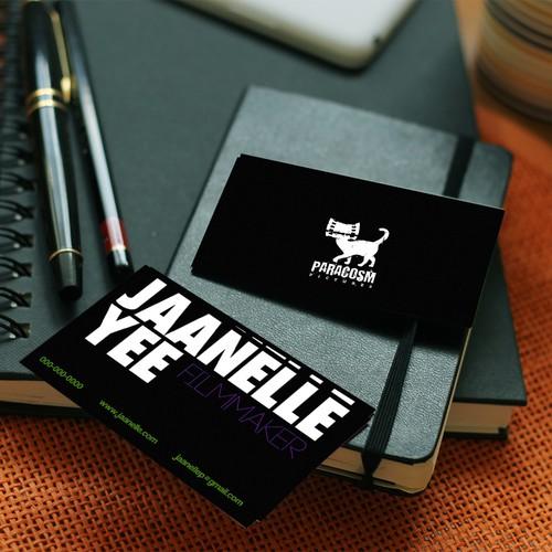 business card for an indie filmmaker