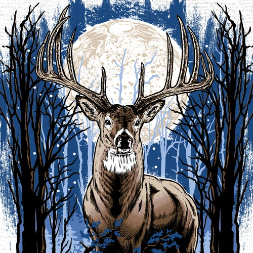 Deer hand drawn t-shirt