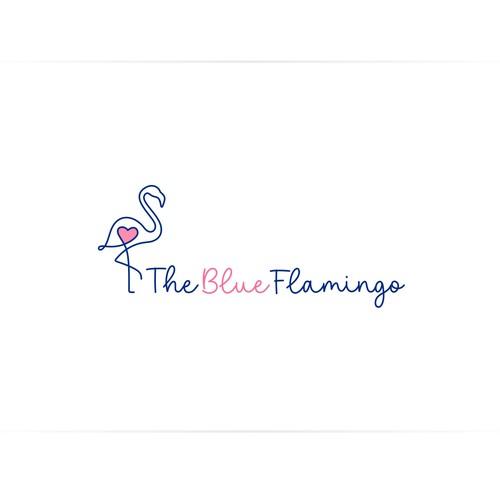 Logo or Blue Flamingo