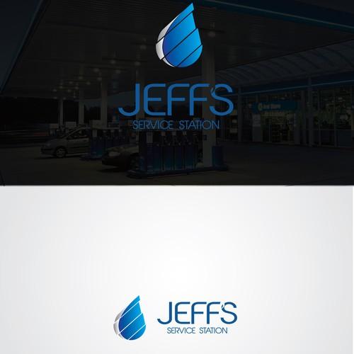 service station logo design
