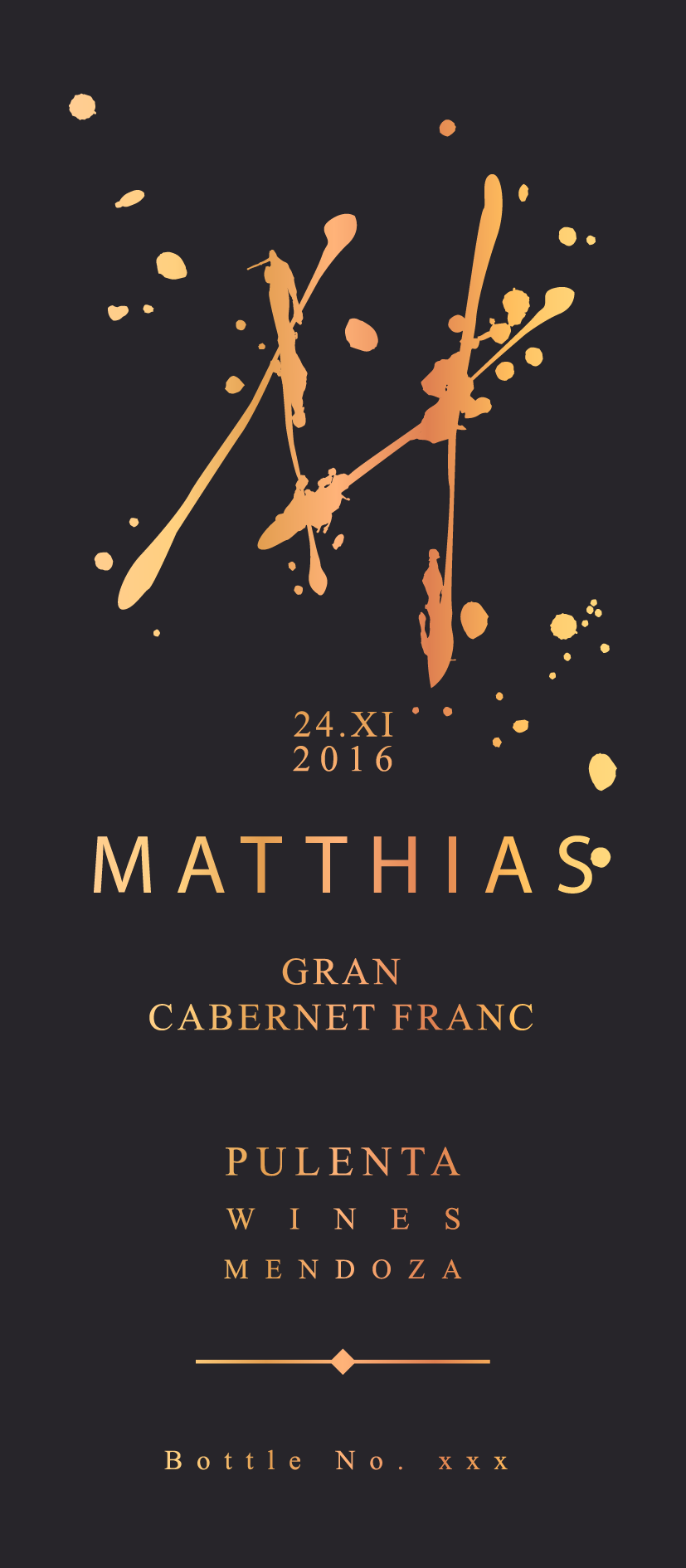 Create a sophisticated Wine Label for an Argentinian Top Wine