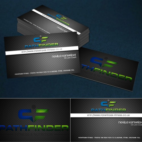 Create a Business Card that people will talk about (on line fitness and nutrition coach