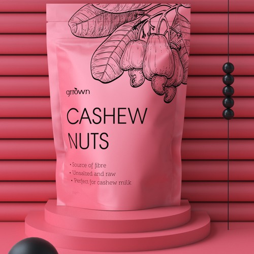 Cashew nuts packaging