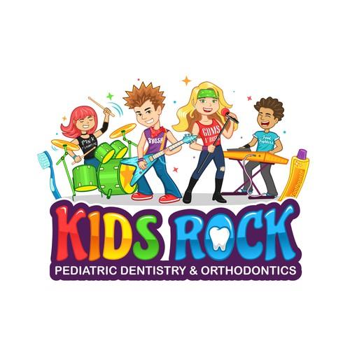 Kids Rock Pediatric Dentistry and Orthodontics needs a fun, music-themed logo!