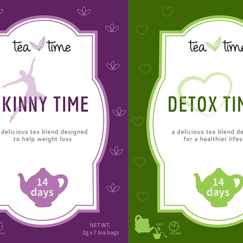 Labels for the tea blends