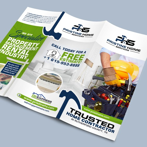 Creative brochure for Pristine Home Services