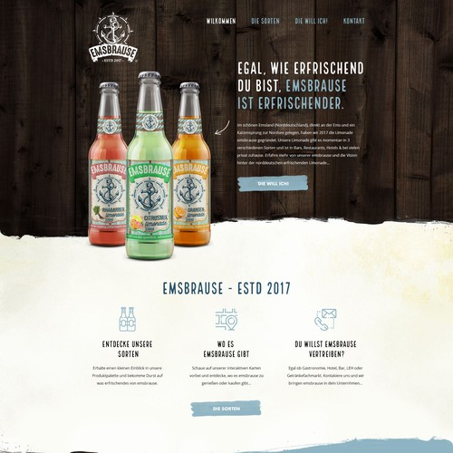 New website for beverage brand