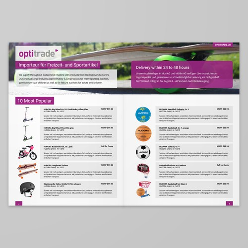 Brochure/Booklet Page Design for Optitrade