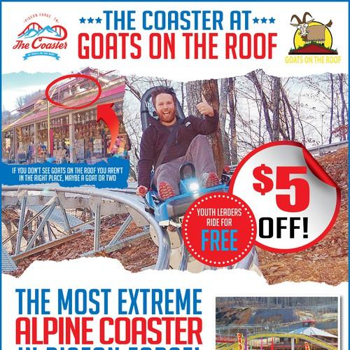 Flyer for an ALPINE COASTER