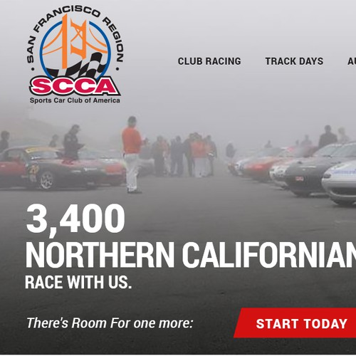 Website for a motorsport racing organization