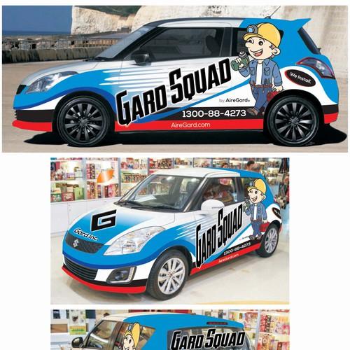 Gard Squad car Wrap