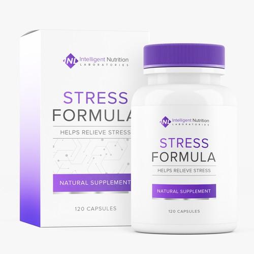 Stress Formula Label Design