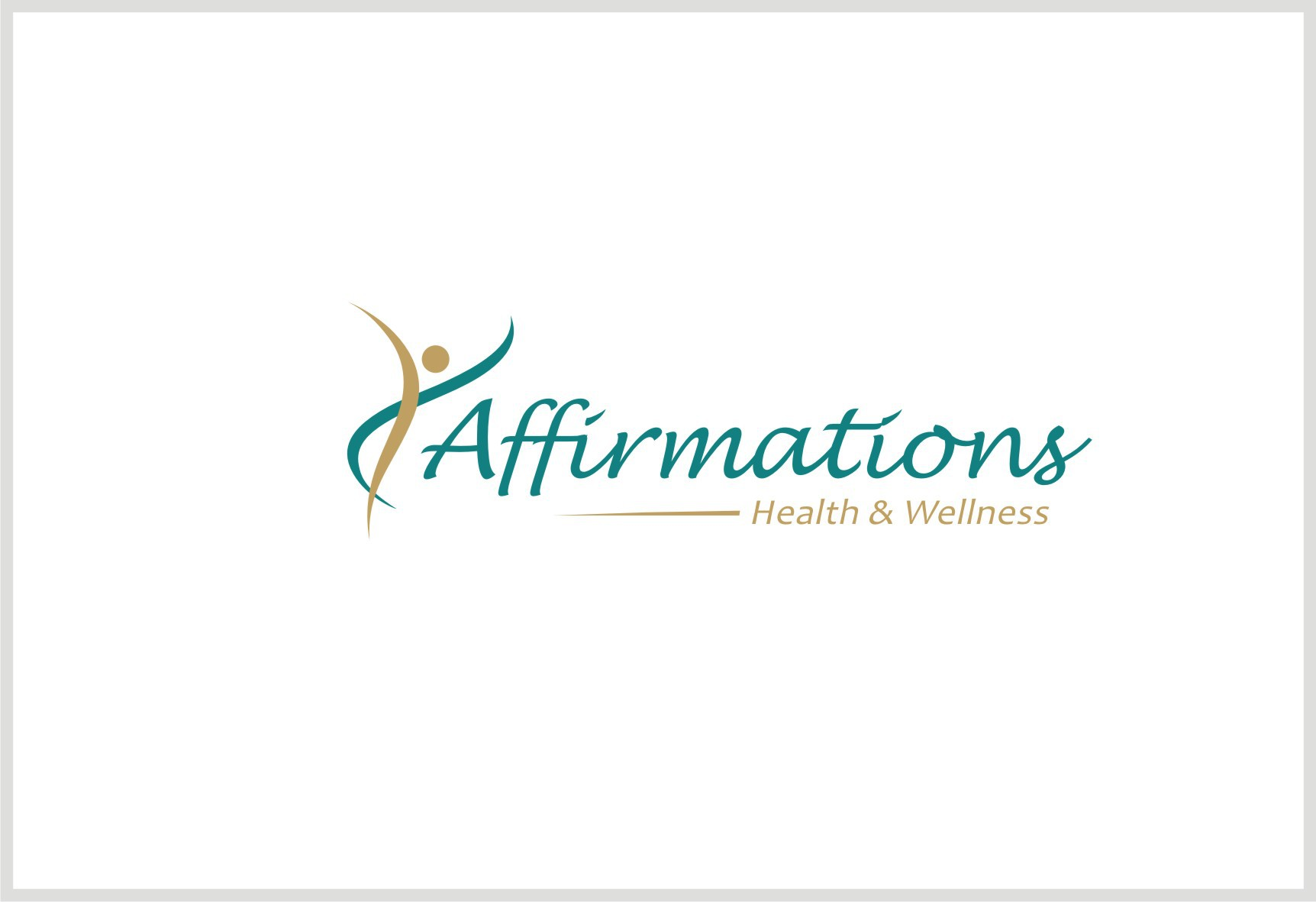 "Put a ""positive"" spin on my Affirmations Health and Wellness Logo!"