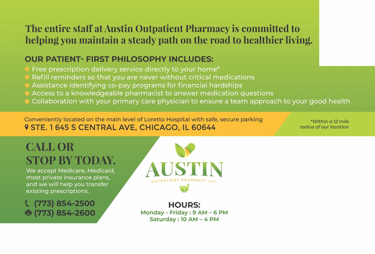 6x9 postcard - Austin Outpatient Pharmacy