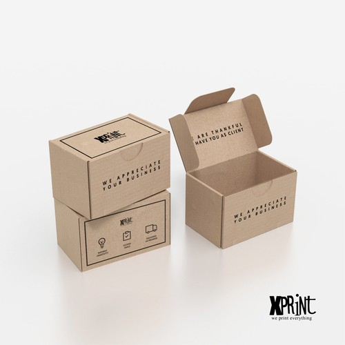 A box design that thanks the client
