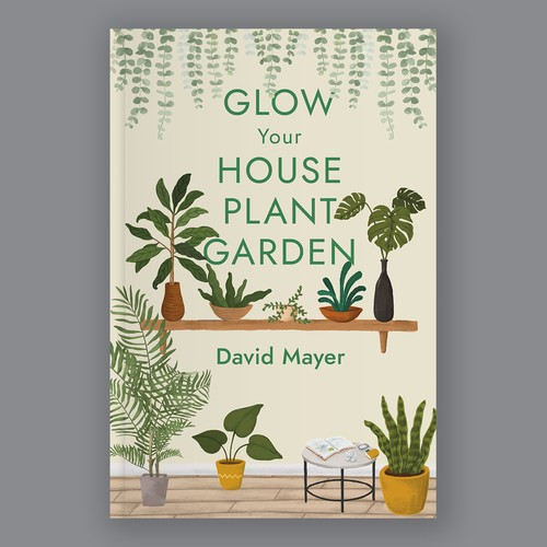Book Cover concept for house plant gardening