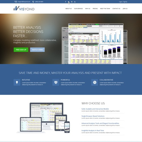 Home page for Visyond