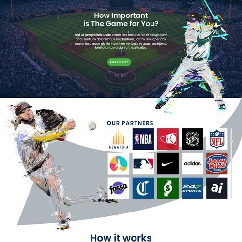 Winning Design for Sports website